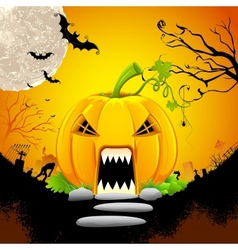 Pumpkin Monster House vector image