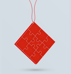 puzzle on a chain business concept vector image