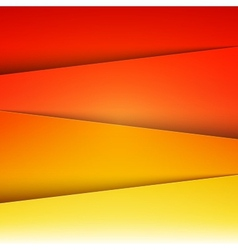 Red orange and yellow paper layers abstract vector image