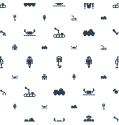 Robot icons pattern seamless white background vector