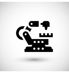 Robotic machine icon vector