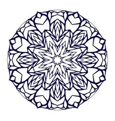 Round kaleidoscopic lace mandala background vector image