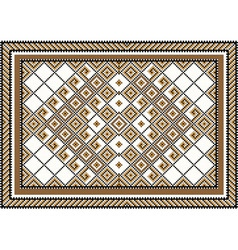 Rug piece of ornament vector