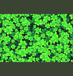 seamless pattern shamrock vector image