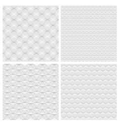 set four white background seamless pattern vector image