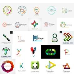 Set of branding company logo elements vector image