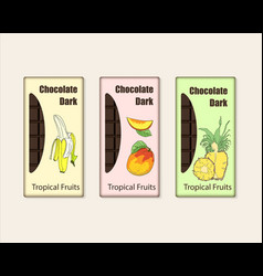 Set of chocolate bar package vector