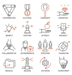 Set of icons related to business management - 30 vector image