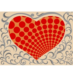 Shaped heart pattern vector
