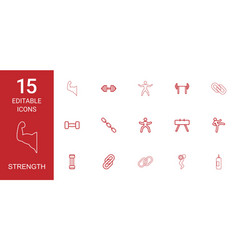 strength icons vector image
