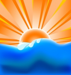 summer background with vector image