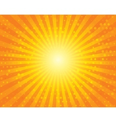 Sun Sunburst Pattern with circles Orange sky vector