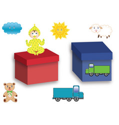 symbols with toys vector image