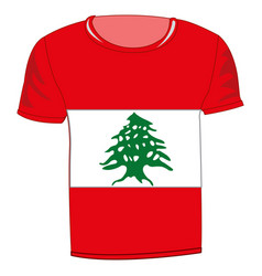 t-shirt flag lebanon vector image