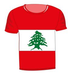 T-shirt flag lebanon vector