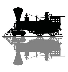 the vintage american steam locomotive vector image