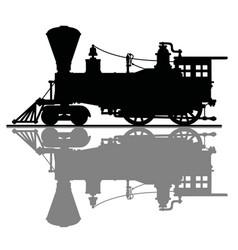 vintage american steam locomotive vector image