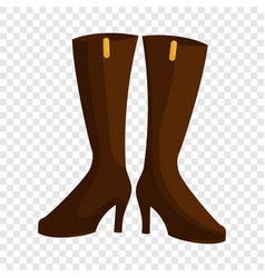 Woman boots icon cartoon style vector