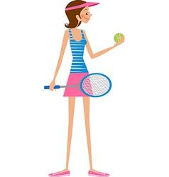woman tennis player vector image vector image