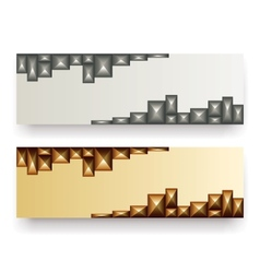 abstract metallic banners vector image