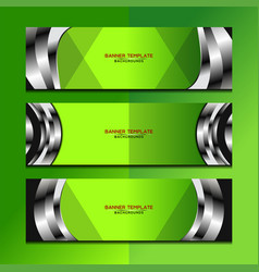 banner green background design vector image vector image