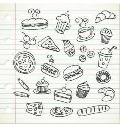 food doodle vector image