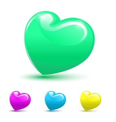 Valentine heart 3D set vector image