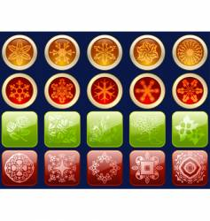 glossy icons with fancy patterns vector image