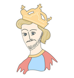 medieval king vector image