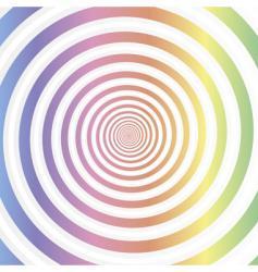 rainbow swirl abstract vector image vector image