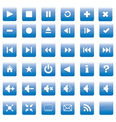 square media buttons vector image vector image