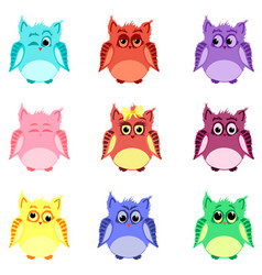 emotions of owls vector image vector image