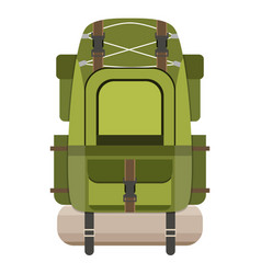 large hiking backpack vector image