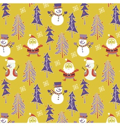 santa winter wallpaper vector image