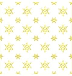 Seamless snowflake Christmas background vector image vector image