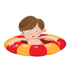 smile swimmer boy vector image