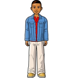 Young Ethnic Boy vector image
