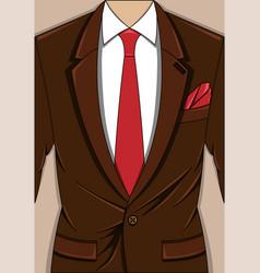 brown man suit vector image