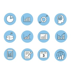 Business Infographic icons - Graphics vector image vector image