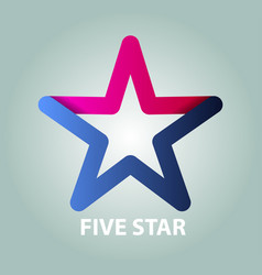 five star vector image
