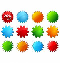 glossy labels for sale promotion vector image vector image