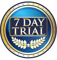 seven day trial icon vector image