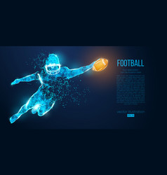 Abstract football player rugamerican vector