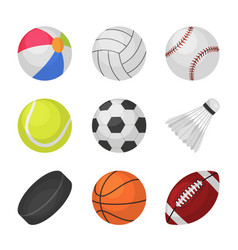 ball games sports kids volleyball baseball vector image