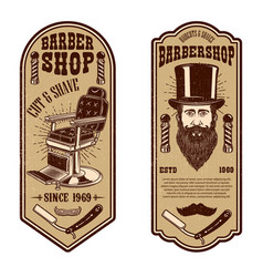 barber shop flyer template barber chair and tools vector image