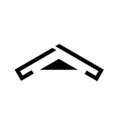 black roof logo design vector image