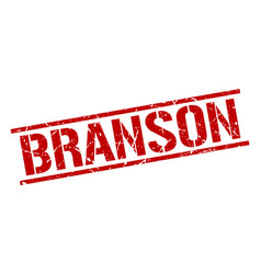 Branson red square stamp vector