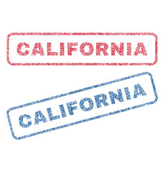 California textile stamps vector