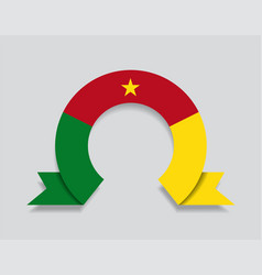cameroon flag rounded abstract background vector image
