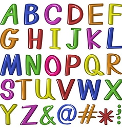 Candy fontstyle of the letters vector